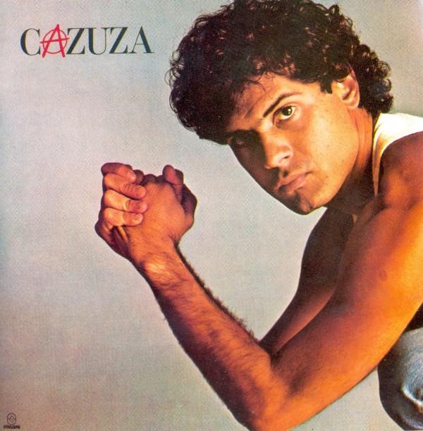Cazuza em 1985, na capa de seu primeiro LP solo, lançado pela Som Livre